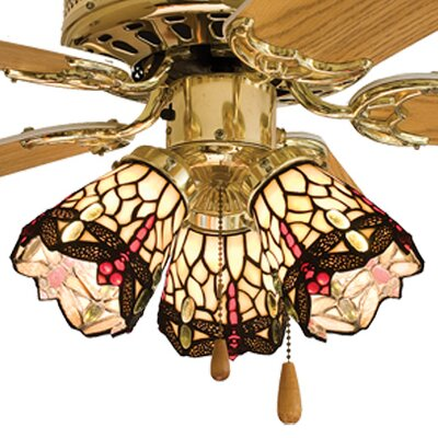 Tiffany 4 Glass Bowl Ceiling Fan Fitter Shade
