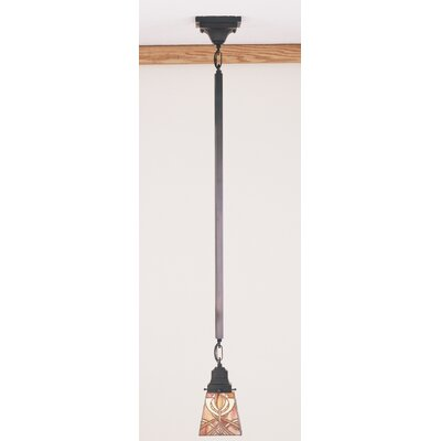 Mission Glasgow Bungalow 1-Light Mini Pendant Size: 29 H x 5 W x 5 D
