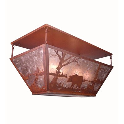 Bear at Lake Oblong 6-Light Flush Mount