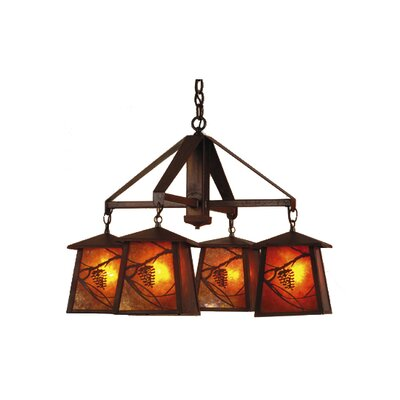 Whispering Pines 4-Light Shaded Chandelier Finish: Rust