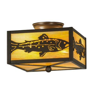 Trout 2-Light Flush Mount
