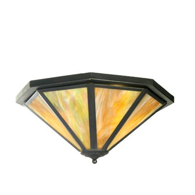 American Craftsman Octagon 2-Light Flush Mount