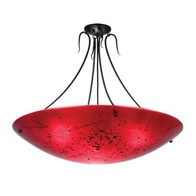 Metro Fusion Luce Rossa Inverted 3-Light Semi Flush Mount