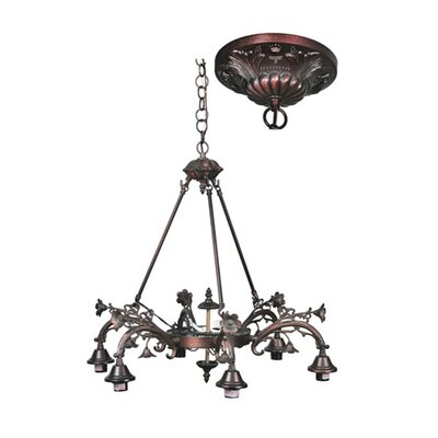 Victorian 8-Light Shaded Chandelier