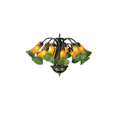 Pond Lily 12-Light Shaded Chandelier