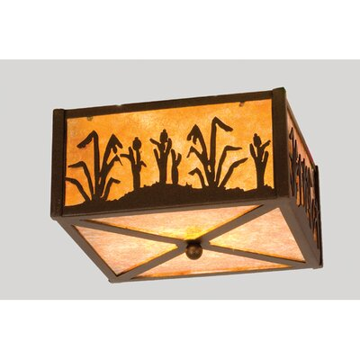 Reeds and Cattails 2-Light Flush Mount