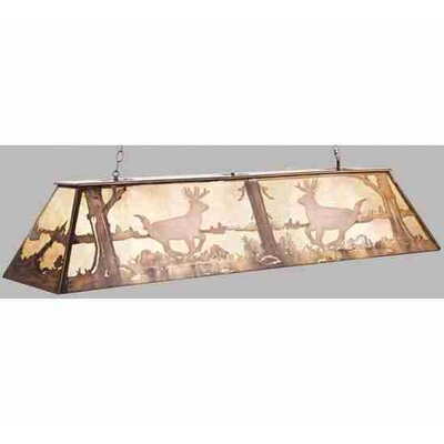 Deer at Lake 9-Light Billiard Light Size: 22 - 42 H x 60 W x 17 D