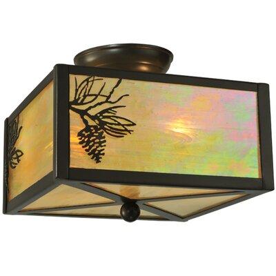 Balsam Pine 2-Light Flush Mount
