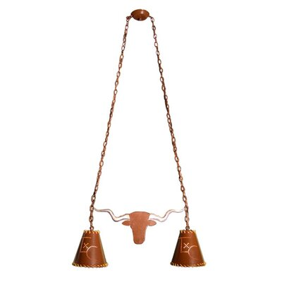 Texas Longhorn 2-Light Kitchen Island Pendant