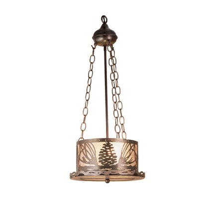 Mountain Pine 1-Light Inverted Pendant Finish: Antique Copper