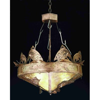 Catch of the Day 2-Light Inverted Pendant Shade Color: Silver