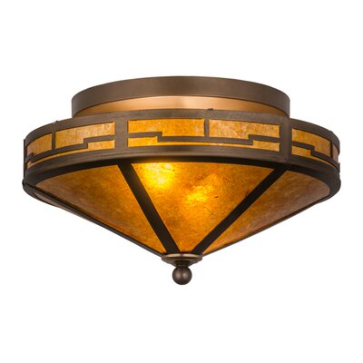 Bungalow Valley View 2-Light Semi Flush Mount
