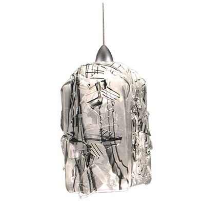 Metro Fusion Licorice Draped 1-Light Mini Pendant Bulb Type: 1 x 5 - 50 W BI PIN Halogen