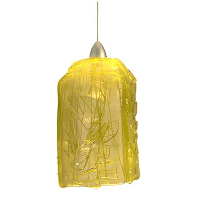 Metro Fusion Taffy Draped 1-Light Mini Pendant Shade Color: Lemon