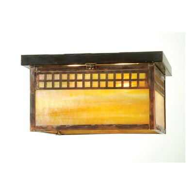 Mission Tile 2-Light Flush Mount