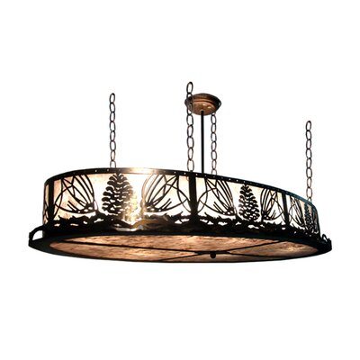 Mountain Pine Oval 4-Light Inverted Pendant