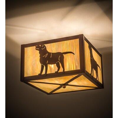 Labrador Retriever 2-Light Flush Mount