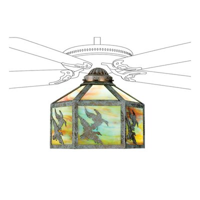 Ducks in Flight Fan 13 Glass Novelty Pendant Shade