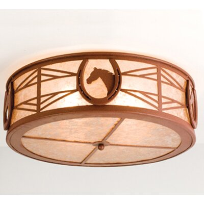 Horseshoe 4-Light Flush Mount