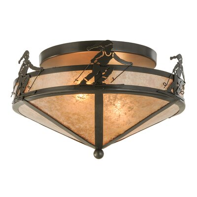 Alpine 2-Light Semi Flush Mount