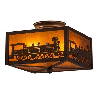 Train 2-Light Flush Mount