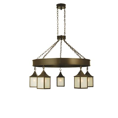 Bigfork Lantern 5-Light Shaded Chandelier