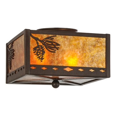 Diamond Mission Winter Pine 2-Light Flush Mount