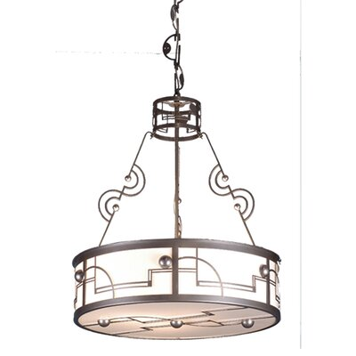 Revival Deco Cilindro 4-Light Inverted Pendant