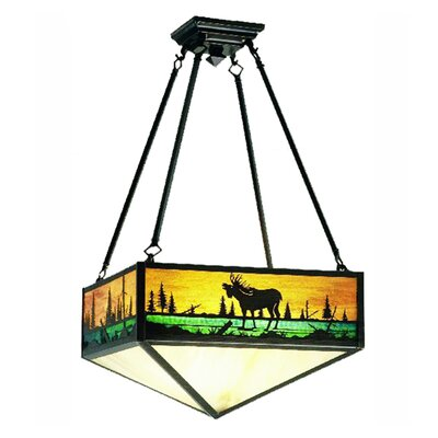 Moose Creek 3-Light Semi Flush Mount
