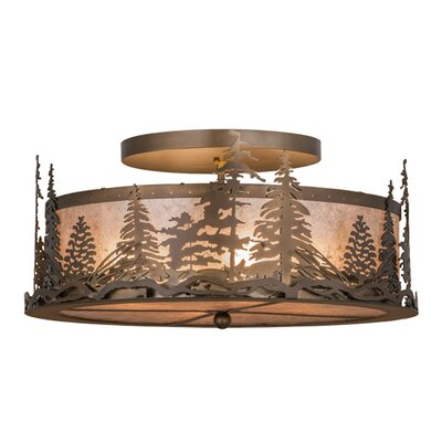 Tall Pines 4-Light Semi-Flush Mount