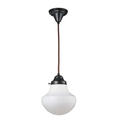 Revival with Classic Globe 1-Light Schoolhouse Pendant