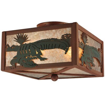 Alligator 2-Light Flush Mount