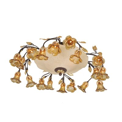 Celestial Bouquet 18 Arm 20-Light Flush Mount