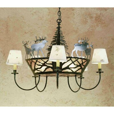 Elk on The Loose 8-Light Shaded Chandelier