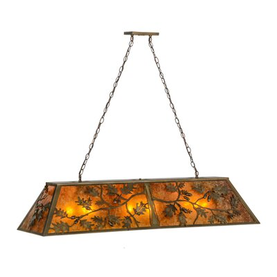Oak Leaf and Acorn 9-Light Kitchen Island Pendant