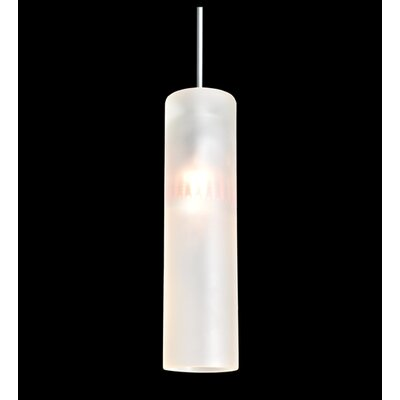 Venice Wine Bottle 1-Light Mini Pendant Shade Color: Frosted White, Size: 80 H x 2 W x 2 D