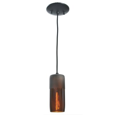 Venice Wine Bottle 1-Light Mini Pendant Shade Color: Amber, Size: 75 H x 3 W x 3 D