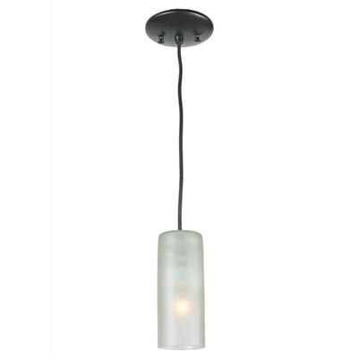 Venice Wine Bottle 1-Light Mini Pendant Shade Color: Frosted White, Size: 75 H x 5 W x 5 D