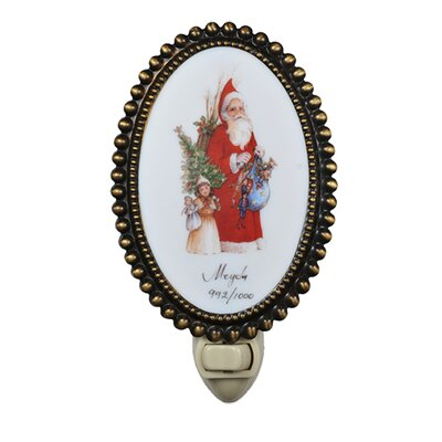 Christmas for the Love of Santa Fused Oval Night Light