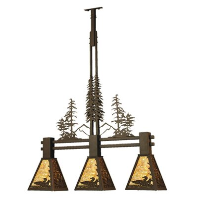Loon Tall Pines 3-Light Kitchen Island Pendant