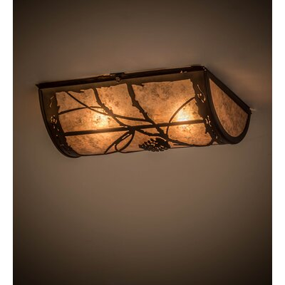 Whispering Pines 2-Light Flush Mount