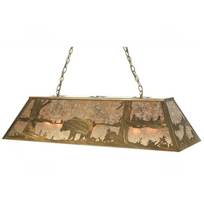 Bear at Lake 9-Light Pendant Size: 22 - 42 H x 48 W x 17 D