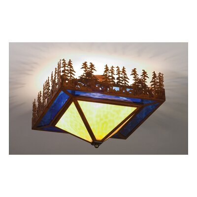 Lake 4-Light Semi Flush Mount