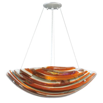 Metro Fusion Marina Glass 4-Light Inverted Pendant