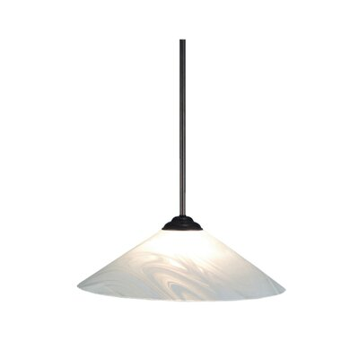Blanco Swirl 1-Light Mini Pendant
