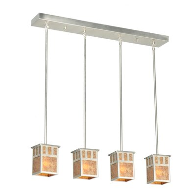 Double Bar Mission 4-Light Kitchen Island Pendant