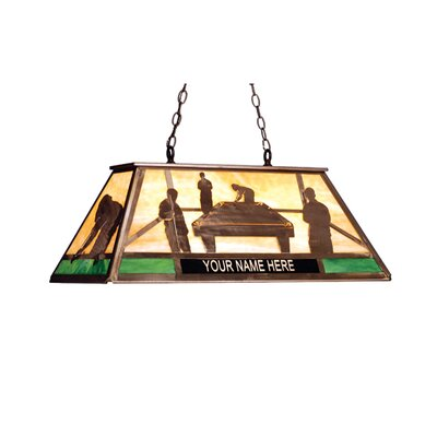 Personalized Pool Hall 6-Light Billiard Light