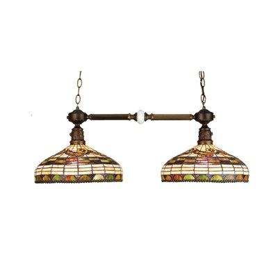 Tiffany Edwardian 2-Light Kitchen Island Pendant