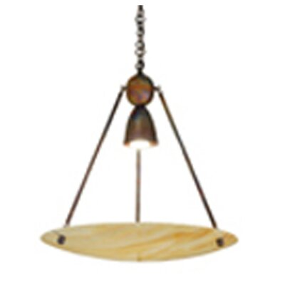 Revival Iridescent Deco Ball 1-Light Inverted Pendant Finish: Antique Copper