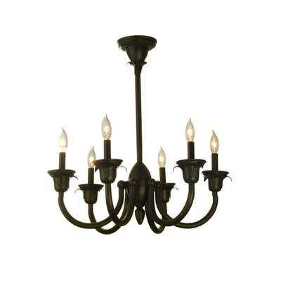 Rhythm 6-Light Candle-Style Chandelier